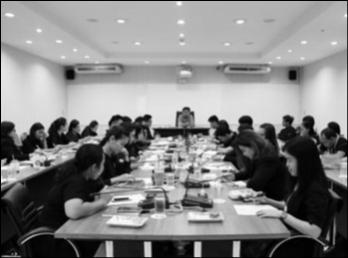 ประชุมเจ้าหน้าที่สายสนับสนุนวิชาการ คณะวิทยาศาสตร์และเทคโนโลยี ประจำปีงบประมาณ พ.ศ. 2561 ครั้งที่ 1
