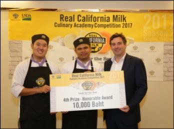 นักศึกษาสาขาอุตสาหกรรมอาหารและการบริการ คว้ารางวัลชมเชย อันดับที่ 1 จากการแข่งขัน Real California Milk Culinary Academy Competition 2017