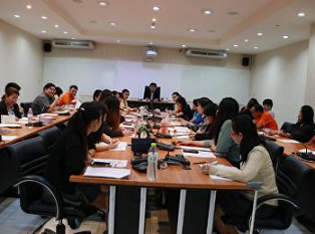 ประชุมเจ้าหน้าที่สายสนับสนุนวิชาการ คณะวิทยาศาสตร์และเทคโนโลยี