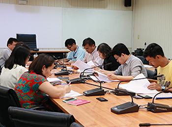ประชุมการงานก่อสร้างอาคารวิทยาศาสตร์