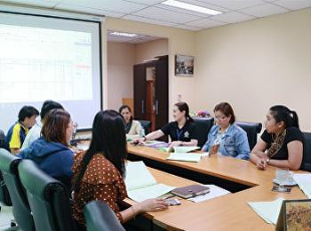 ฝ่ายแผนงานและประกันคุณภาพ ประชุมติดตามผลงบประมาณ