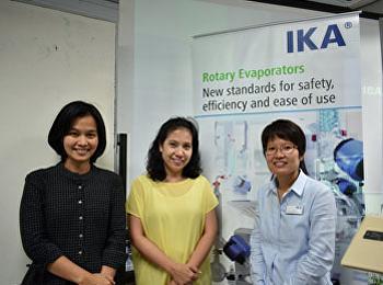 สาขาวิชาชีววิทยา ร่วมกับศูนย์วิทยาศาสตร์และบริษัท IKA จัดอบรมการใช้เครื่องมือพื้นฐานแก่นักศึกษา