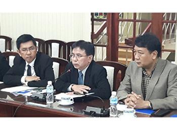 คณบดีคณะวิทยาศาสตร์ฯ ร่วมเป็นพยาน การลงนามความร่วมมือบันทึกความเข้าใจ ระหว่างมหาวิทยาลัยราชภัฏสวนสุนันทา และ Ho Chi Minh City Open University (HCMCOU)
