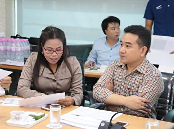 รองคณบดีฝ่ายแผนงานและประกันคุณภาพ ร่วมการประชุมติดตามความก้าวหน้า การดำเนินงานงบประมาณลงทุน / งบประมาณแผ่นดิน