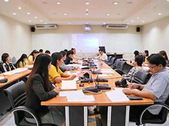 ประชุมแผนการควบคุมภายใน ประจำปีงบประมาณ พ.ศ. 2562