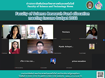 Faculty of Science Research Fund allocation meeting income budget 2022